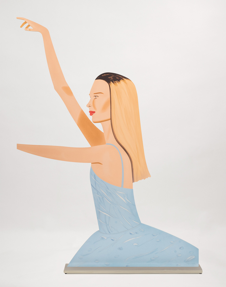 Alex Katz, Dancer 2, 2020, Cutout from shaped powder coated aluminum 0.375in 74x53x8cm edition11of60