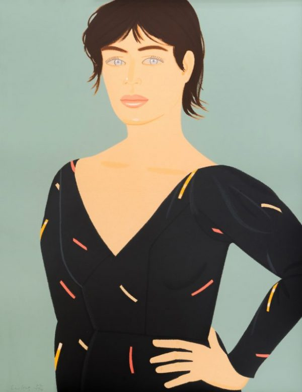 Alex Katz, Grey Dress, 1992, Screenprint in colors, on Arches paper, 91.4 × 71.1 cm, Edition 82 of 150