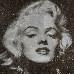 Russell Young, Marilyn Portrait, 2014, screenprint on linen with diamond dust, 68x52 cm COVER
