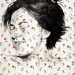 Diego Beyro, oil on bedsheet, 135x210 cm