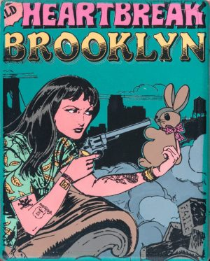 Faile, Heart breaks in Brooklyn, 2012, Original,Acrylic, Spray paint and silkscreen Ink, 25x20cm