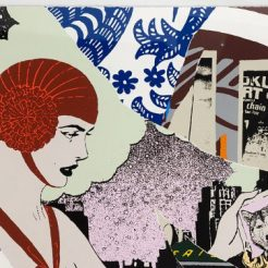 Faile, Night Bender, 2015, Silkscreen ink on paper, edition of 300, 87x58 cm