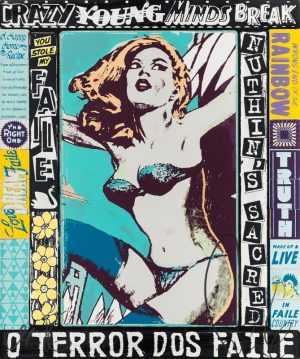 Faile, Silkscreen ink on paper, 71x62 cm
