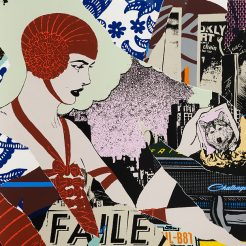 Faile, Silkscreen ink on paper, 89x59 cm SLIDE