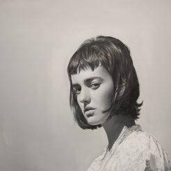 Yigal Ozeri, Olya, 210x140 cm, oil on canvas, 2017
