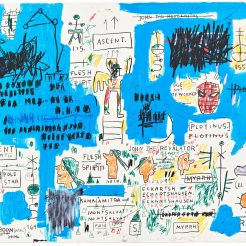 Jean Michel Basquiat, Ascent, 1982-83, portfolio of four hand pulled limited edition screenprints, 56x76 cm each, edition of 50