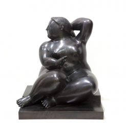 Fernando Botero, Seated Woman, 2002, Bronze, 18.5 × 15 × 15 in, 47 × 38 × 38 cm