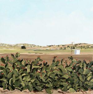 Assaf Shani, Bat Shlomo V6, acrylic on canvas, 40x40 cm