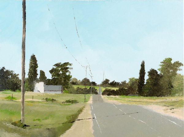 Assaf Shani, Road V4, acrylic on canvas, 30x40 cm
