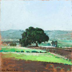 Elie Shamir, Untitled, 2012, Oil on canvas, mounted on wood, 40 x 40 cm