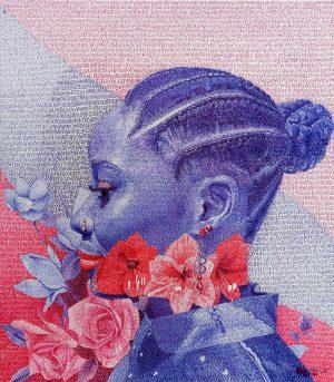 Olatundun-Bimbo-Beauty-2021-Pen-on-paper-16-18in